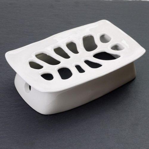 portasapone in ceramica- pezzo unico-realizzato a mano
