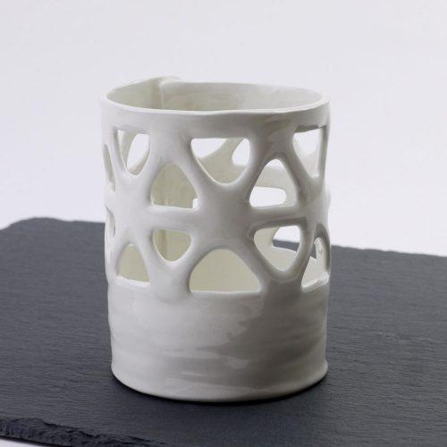 portaspazzolino in ceramica-pezzo unico realizzato a mano