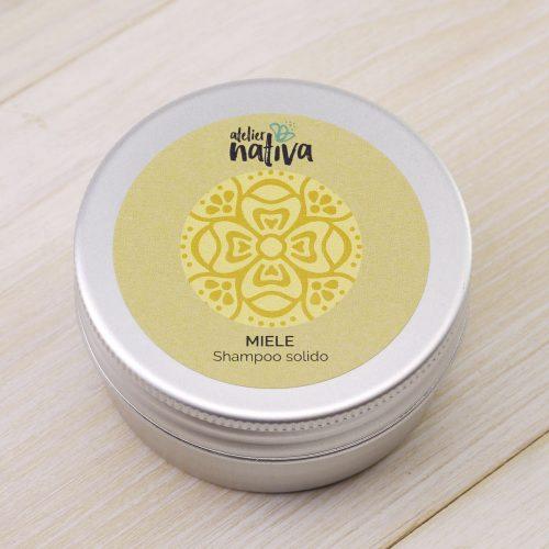 scatolina in alluminio porta shampoo solido miele minitaglia