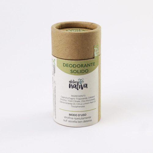 deodorante solido in stick di cartone